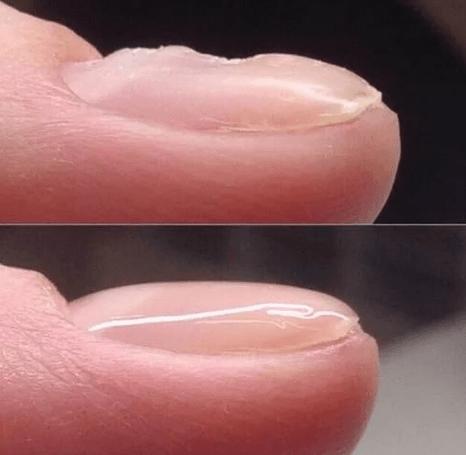 Укрепление ногтей гелем до и после
