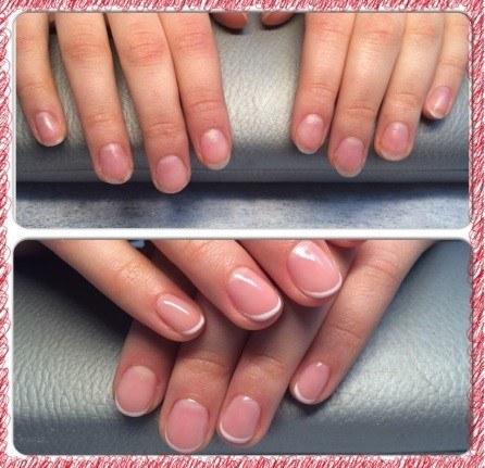 Акриловое укрепление ногтей до и после